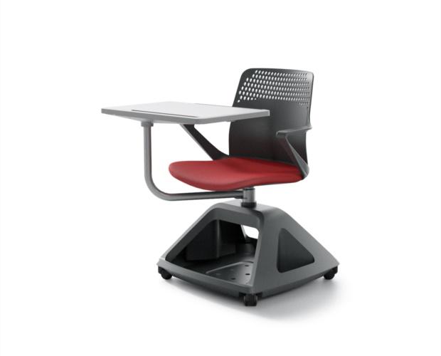 Chaise mobile à roulettes pour education et confèrence